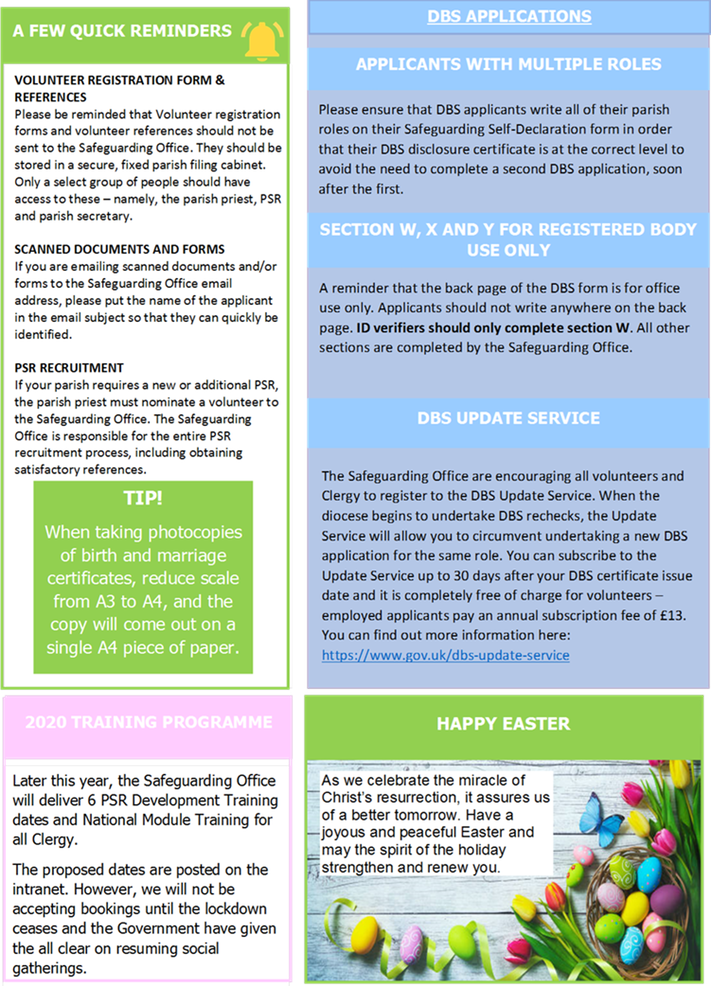 Safeguarding Newsletter page 2.